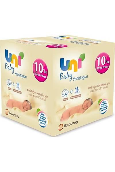 Uni Baby Yenidoðan Islak Pamuk Mendil 10'lu - 400 yaprak
