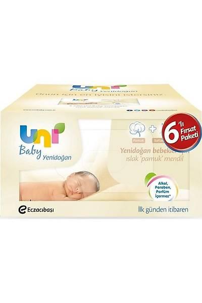 Uni Baby Yenidoðan Islak Pamuk Mendil 6'lý Fýrsat Paketi / 240 Yaprak