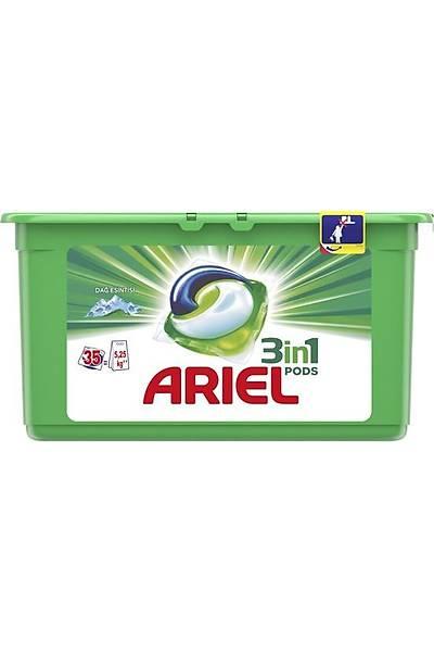 Ariel 3'ü 1 Arada Pods 35 Yýkama Sývý Çamaþýr Deterjaný Kapsülü Dað Esintisi Beyazlar Ýçin