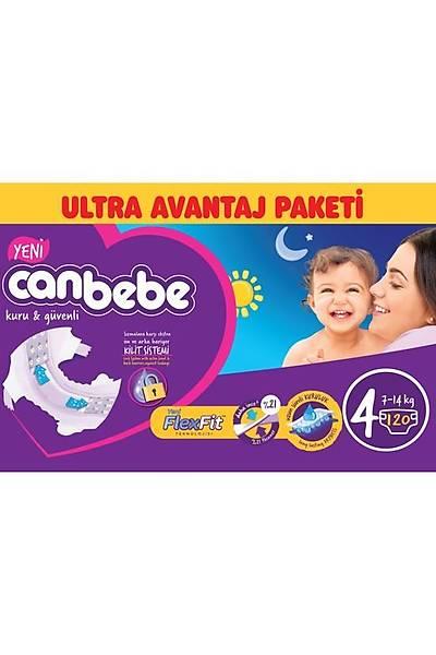 Canbebe Ultra Avantaj Paketi 4 Maxi 7-14kg (120 Adet)