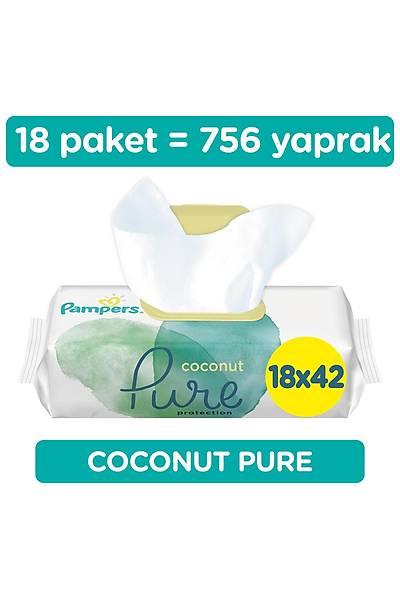 Prima Islak Havlu Mendil Aqua Pure Hindistan Cevizi 18 Paket 756 Yaprak