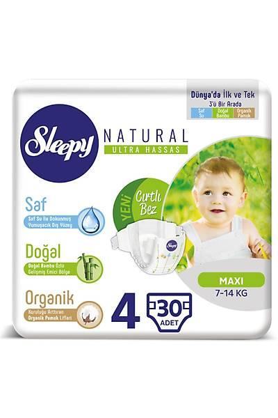 Sleepy Natural Bebek Bezi 4 Numara Maxi