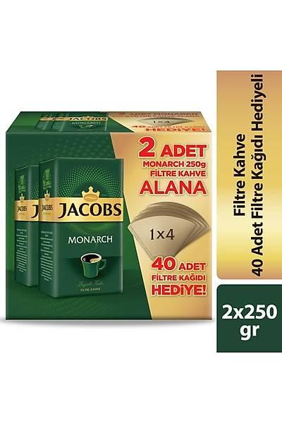 Jacobs Filtre Kahve 250 gr X 2 2' li + Filtre Kaðýdý Hediyeli