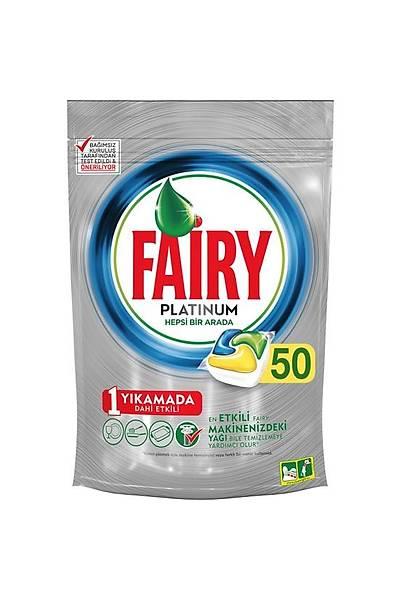Fairy Platinum 50 Yýkama Bulaþýk Makinesi Deterjaný Kapsülü Limon Kokulu
