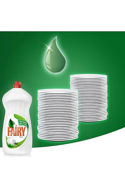 Fairy 2700 ml ( 2 x 1350 ml) Sývý Bulaþýk Deterjaný Elma Fýrsat Paketi + 3'lü Fairy Platinum Plus Deneme Paketi Hediyeli