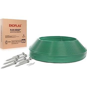 Flex-Edge Plastik Çim Sýnýrlayýcý Esnek 25 Metre