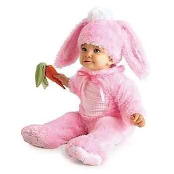 Pembe Tavþan Bebek Kostümü 12-18 Ay