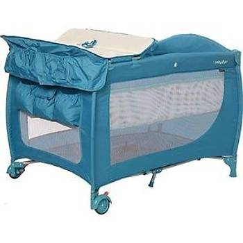 Baby2go Puffy Oyun Parký 70x110 cm Mavi