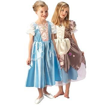 Prenses Cinderella Çocuk Kostüm Platinium 5-6 Yaþ