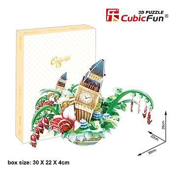 Cubic Fun 3D 74 Parça Puzzle Londra Þehir Kompozisyonu