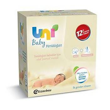Uni Baby Islak Pamuk Mendil Yeni Doðan -Cotton Natural- 12 li paket (480 adet) 08692190300620