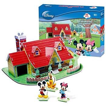 Cubic Fun 3D 43 parça 3 Boyutlu Puzzle Mickey Mouse'un Evi