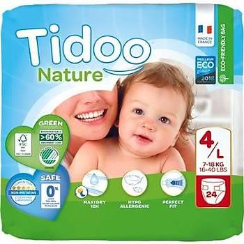 Tidoo Antialerjik-Ekolojik Bebek Bezi No:4 Maxi Single 7-18 Kg 24 Adet
