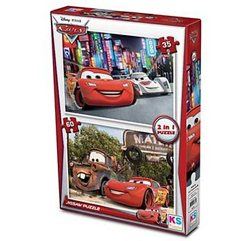 Ks Puzzle Cars 2 in 1 Parça Çocuk  Puzzle