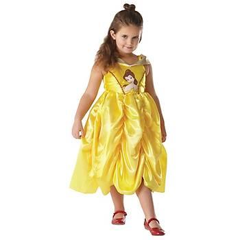 Prenses Belle Klasik Golden Çocuk Kostüm 7-8 Yaþ