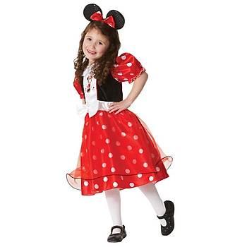 Minnie Lüks Çocuk Kostüm 5-6 Yaþ