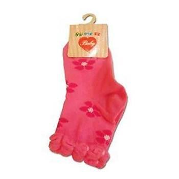 Yümese Anti-Bakteriyel Çiçekli Pembe Çorap