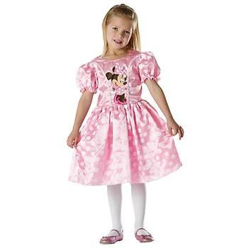 Minnie Pembe Klasik Çocuk Kostüm 5-6 Yaþ