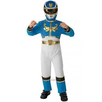 Power Rangers Mavi Çocuk Kostümü  5-6 Yaþ