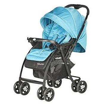 Baby2go 6021 Soft ÇÝft Yönlü Bebek Arabasý -Mavi