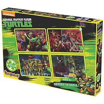 Kýrkpapuç Ninja Turtles Heroes In Shell Çocuk Puzzle