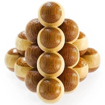 Eureka Bamboo Puzzle Cannon Balls 3D Puzzle