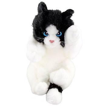 Animals Of The World Oyuncu Yavru Siyah Beyaz Kedicik Peluþ Oyunc