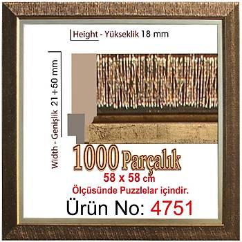 Heidi 1000 Parçalýk Kare Puzzle Çerçevesi 58 x 58 cm 4751