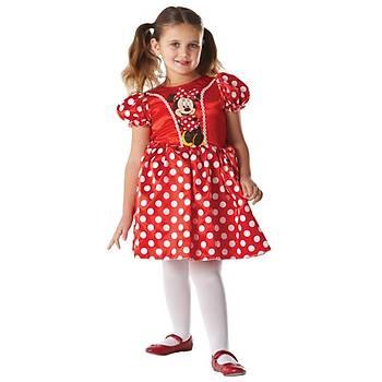 Minnie Kýrmýzý Klasik Çocuk Kostüm 7-8 Yaþ