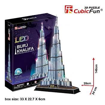 Cubic Fun 3D 136 Parça Led Puzzle Burç Halife Binasý - Dubai (Led