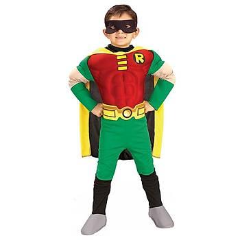 Teen Titan Robin Kostüm Lüks 4-6 Yaþ