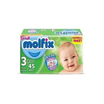 Molfix Ekonomik Paket 3 Numara 135 Adet Bebek Bezi 3 Lü Paket (Koli)