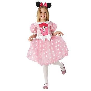 Minnie Mouse Çocuk Kostüm 5-6 Yaþ Pembe Glitz