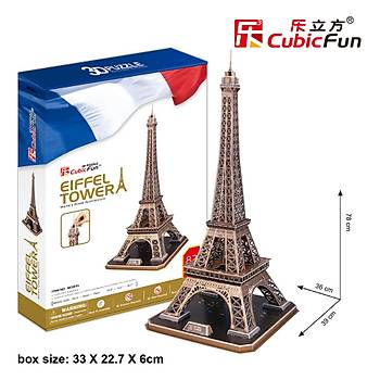 Cubic Fun 3D 82 Parça Puzzle Eyfel Kulesi - Fransa
