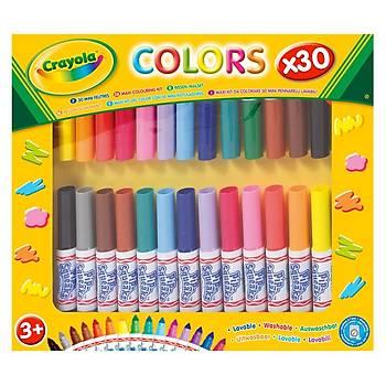 Crayola Mini Yýkanabilir Keçeli Kalem 30'lu