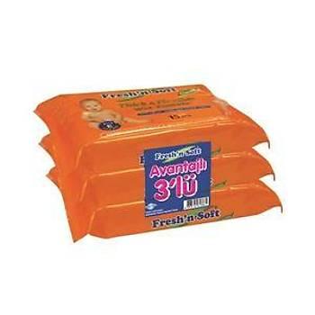 Fresh'n Soft Classýc Islak Bebek Havlusu - 3 lü Paket