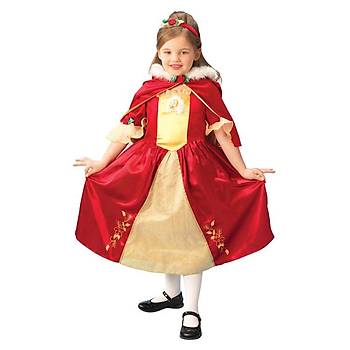 Prenses Belle Çocuk Kostüm Platinium 5-6 Yaþ
