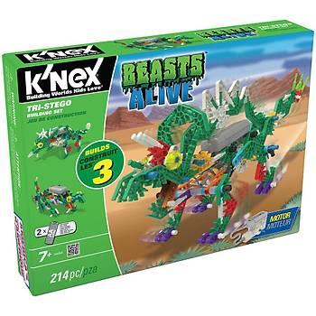 K'Nex Tri-Stego Yapým Seti (Motorlu) Beasts Alive Knex 34484