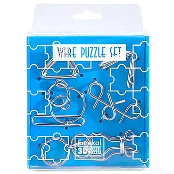 Eureka Wire Puzzle Set-Blue 3D Puzzle