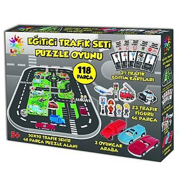 Laço Kids Eðitici Trafik Seti Puzzle Oyunu