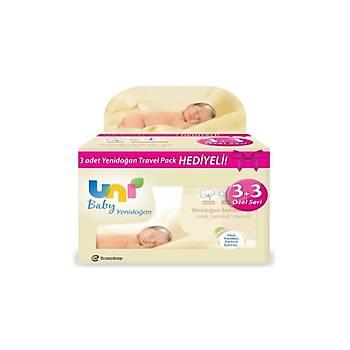 Uni Baby Yenidoðan Islak Pamuk Mendil 3x50=150 Yaprak