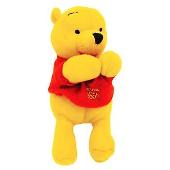 Pooh Mandallý Peluþ Oyuncak 12 cm