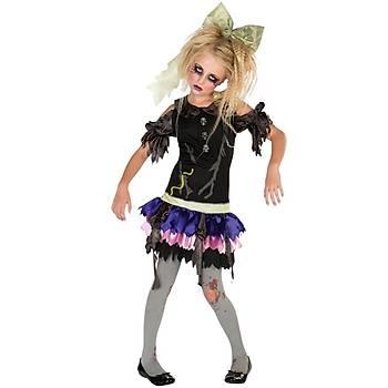 Zombi Kýz Çocuk Kostümü 12-14  Yaþ