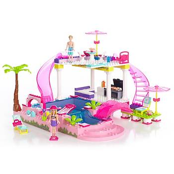Mega Bloks Barbie'nin Havuz Partisi Oyun Seti
