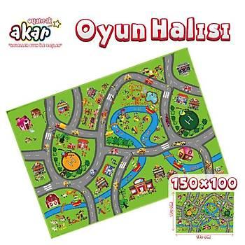 Akar Oyuncak Oyun Halýsý City 150X100 cm