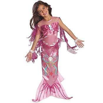 Pembe Deniz Kýzý  Klasik Çocuk Kostüm Small 3-4 Yaþ