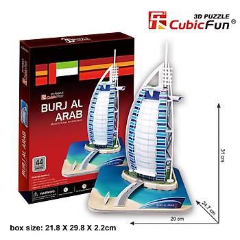 Cubic Fun 3D 44 Parça Puzzle Burç El Arap - Dubai