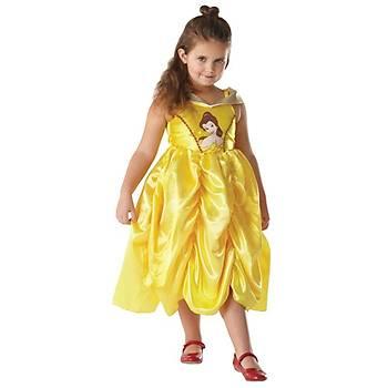 Prenses Belle Klasik Golden Çocuk Kostüm  5-6 Yaþ