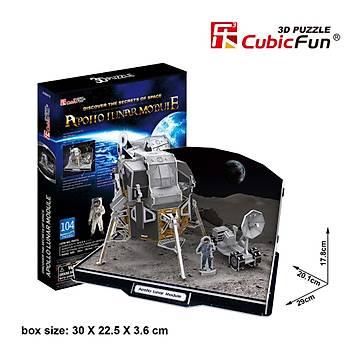Cubic Fun 3D 104 Parça Puzzle Apollo Lunar Ay Modülü