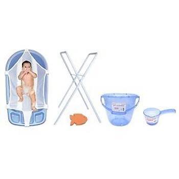 Sema Baby Bebek Banyo Seti 6 Parça - MAVÝ